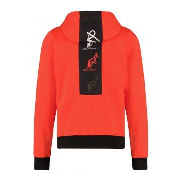 Australian sportswear zip hoodie tape logo | lava