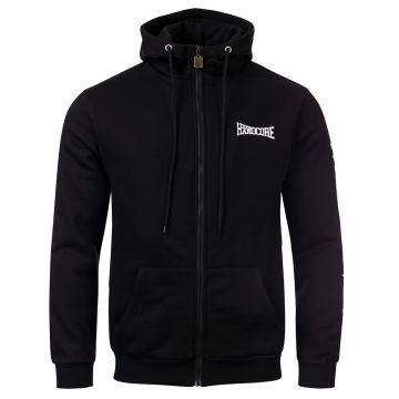 100% Hardcore hooded zipper Wear it with Pride   black