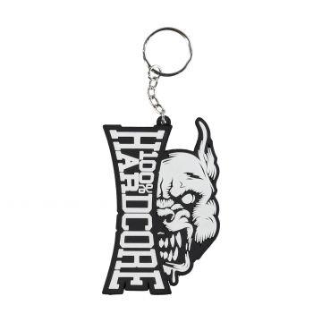 100% Hardcore keychain branding rage   black - white