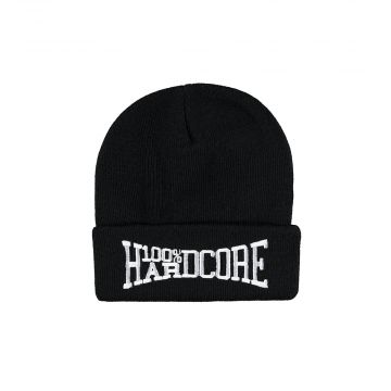 100% Hardcore beanie with embroidery rage | black