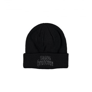 100% Hardcore beanie with embroidery rottweiler | black