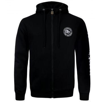 100% Hardcore zip hoodie stand your ground   black