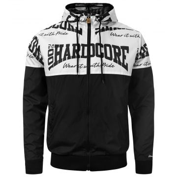 100% Hardcore Windbreaker The Brand | black - white