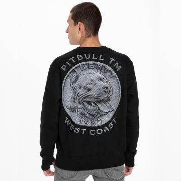 Pit Bull crewneck coin | zwart