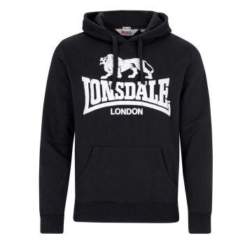 Lonsdale hooded sweater Go Sport 2 | zwart