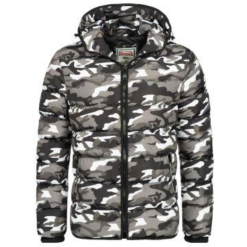 Lonsdale hooded men's jacket Loman   camo gray