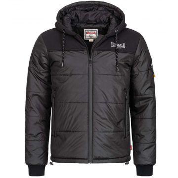 Lonsdale men's jacket with hood Botallack   black