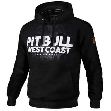 Pit Bull hooded sweater Fuck the world 18 | zwart