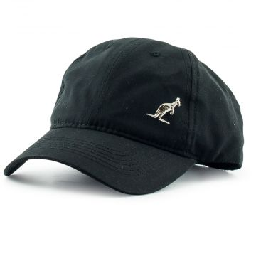 Australian cap with silver logo emblem and embroidery | black