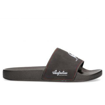 Australian slippers | logo white X black