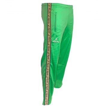 Australian pants with gold stripe and 2 zippers   kawasaki green