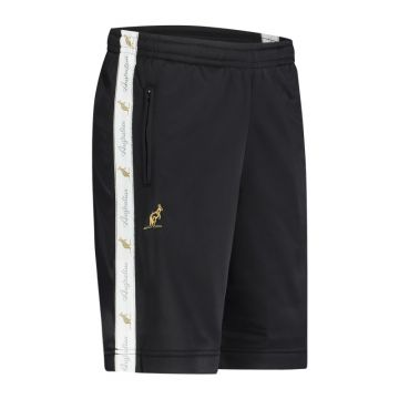 Australian bermuda with two zippers and a white stripe 2.0   black
