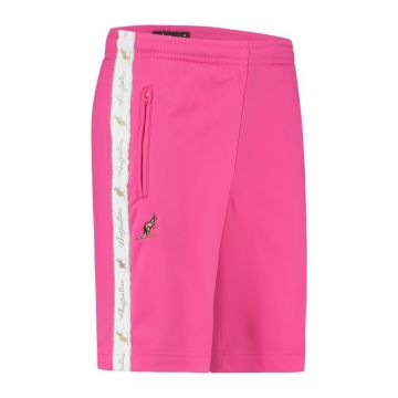 Australian bermuda with two zippers and a white stripe 2.0   pink