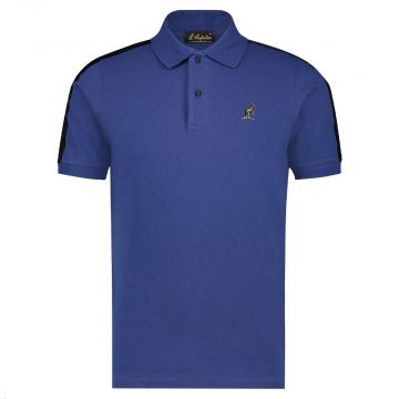 Australian polo slim fit with black stripe 2.0 on the shoulders   cosmo blue