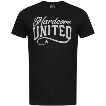Hardcore United T-shirt reflective logo print   black