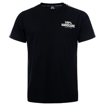 100% Hardcore T-shirt with shoulder stripe UNITED SPORT | black