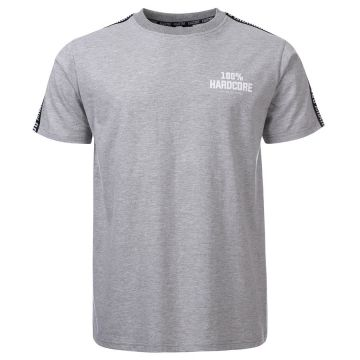 100% Hardcore T-shirt with shoulder stripe UNITED SPORT | mottled gray