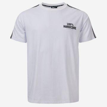 100% Hardcore T-shirt with shoulder stripe UNITED SPORT | white