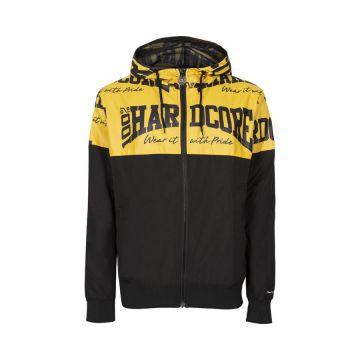 100% Hardcore windbreaker THE BRAND | zwart / geel