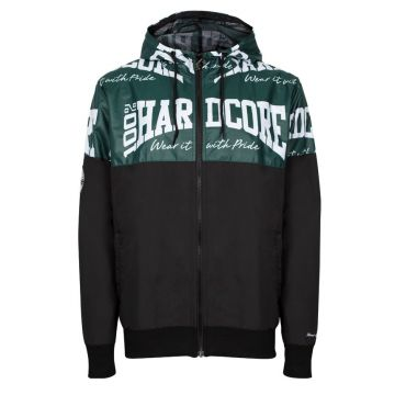 100% Hardcore windbreaker THE BRAND | zwart / groen