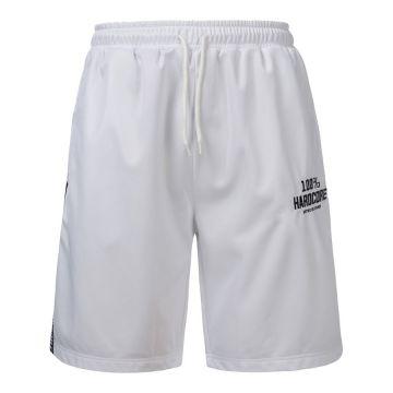100% Hardcore shorts with stripe UNITED SPORT   white
