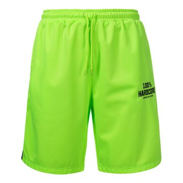 100% Hardcore shorts with stripe UNITED SPORT   neon green