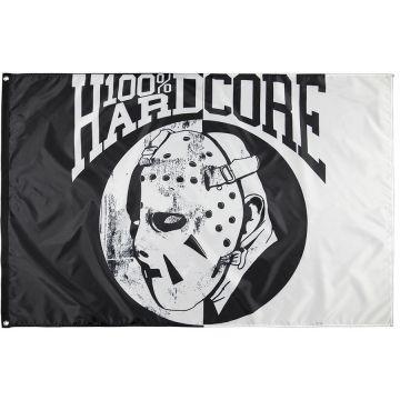 100% Hardcore vlag HOCKEY MASK