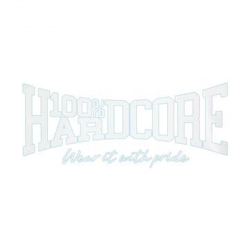 100% Hardcore car sticker | Wear It With Pride