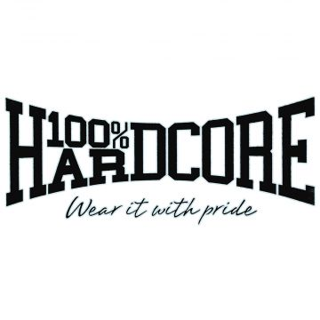 100% Hardcore car sticker WEAR IT WITH PRIDE 70 x 30 CM | black