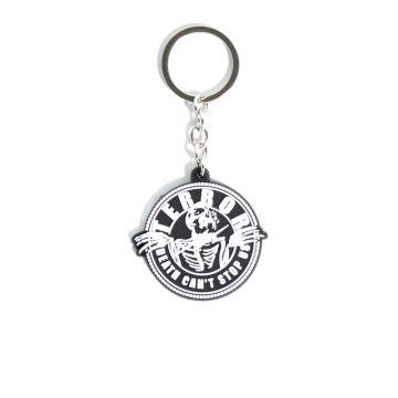 Terror keychain Death   black and white