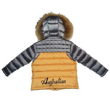 Australian winterjacket for kids   grey - orange