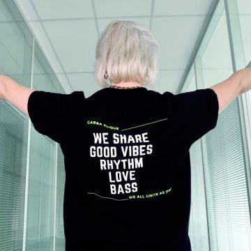 Gabba Clique T-shirt bass groen | zwart