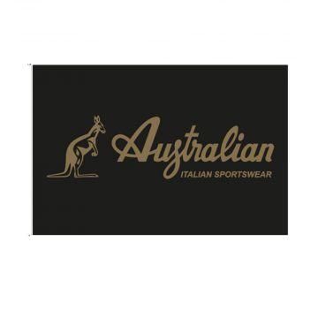 Australian flag golden logo