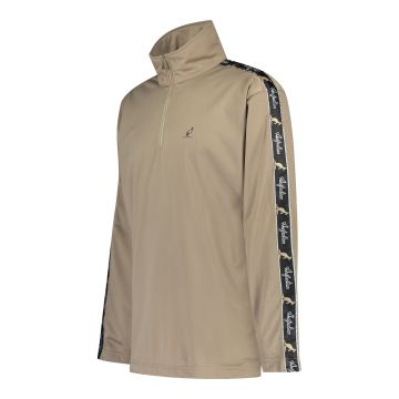 Australian special oldschool acetate pullover with stripe   brown