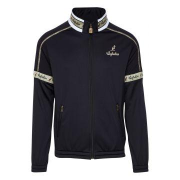 Australian acetate jacket with gold stripe on neck | black