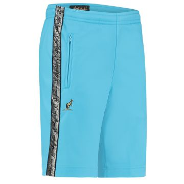 Australian bermuda with two zippers and a silver stripe 2.0   smurf blue