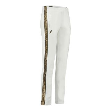 Australian pants with gold stripe and two zippers 2.0   white
