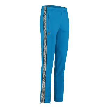 Australian pants with silver stripe and 2 zippers 2.0   capri blue