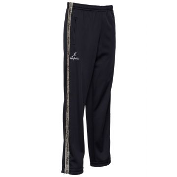 Australian pants with silver stripe and 2 zippers   black
