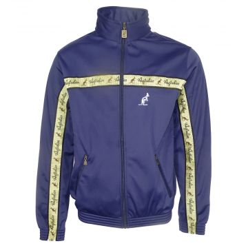 Australian jacket with gold stripe   cosmo blue