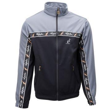 Australian jacket with black stripe   darkgrey 963