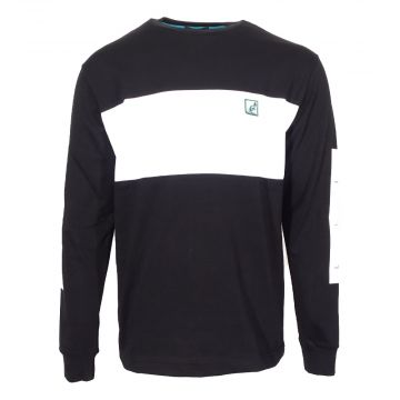 Australian longsleeve with patch logo and print on sleeve   black