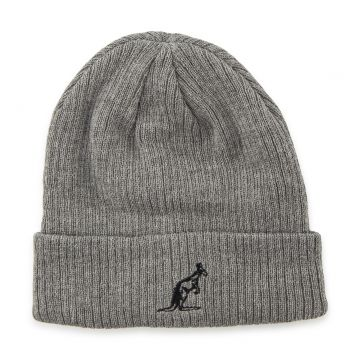 Australian beanie embroidered logo Grey