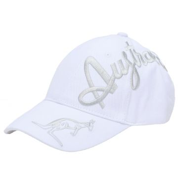 Australian cap silver crossover embroidery exclusive | white