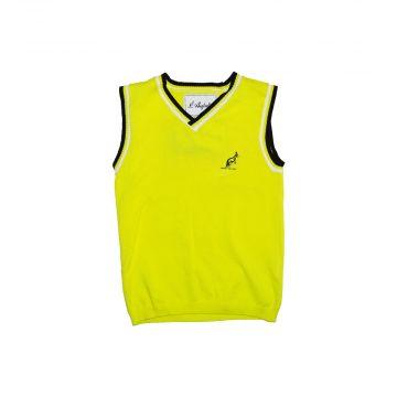 Australian spencer for kids embossed logo | yellow