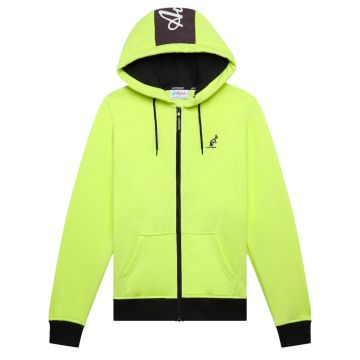 Australian sportswear zip hoodie fleece logo | lime