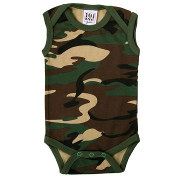 101 INC Junior   camo baby bodysuit