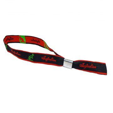 Australian festival wristband   logo ☓ red stripe