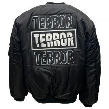 Terror Bomberjack  geborduurd | zwart