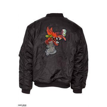 BZRK (EXCLUSIVE) bomberjack embroidered logo | black